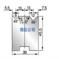 39-45.5双V折弯模